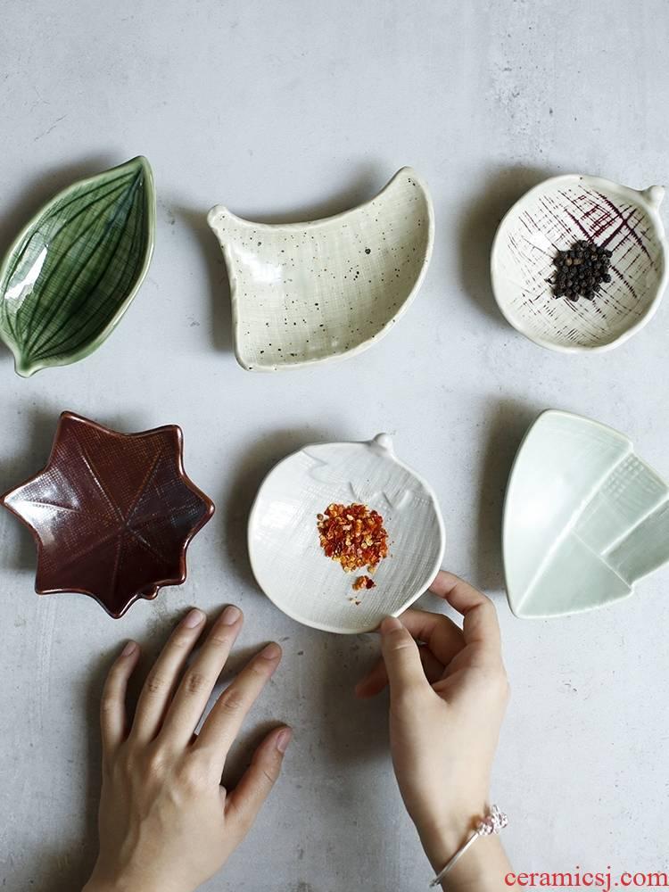 Qiao mu LH dishes taste dish dish dish dipping sauce dish dish vinegar dish vegetable retro creative household Japanese ceramics