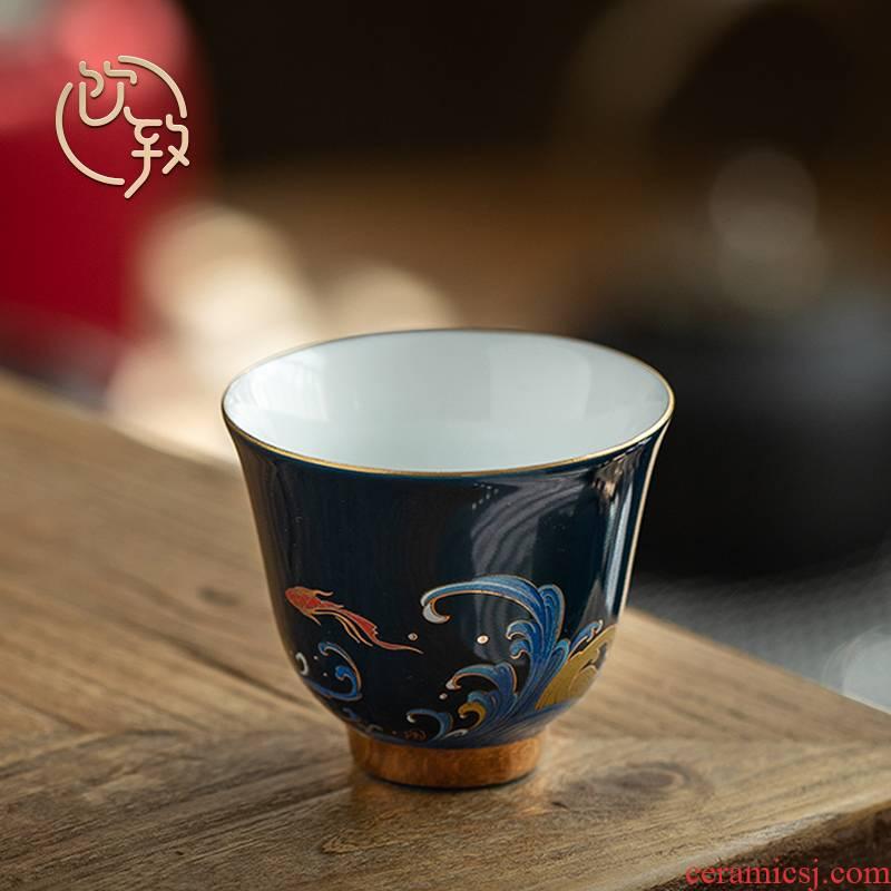 Ultimately responds to glaze see colour noggin master cup single CPU move checking ceramic sample tea cup single kunfu tea cups