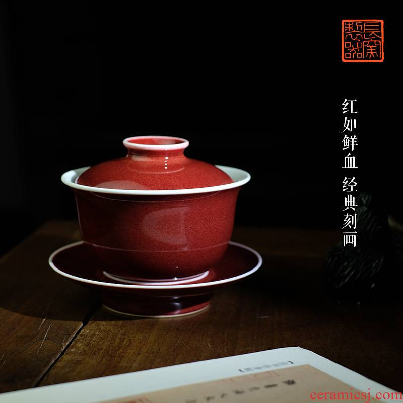 Offered home - cooked r we taste the red then tureen tea tea tea art of jingdezhen ceramics by hand