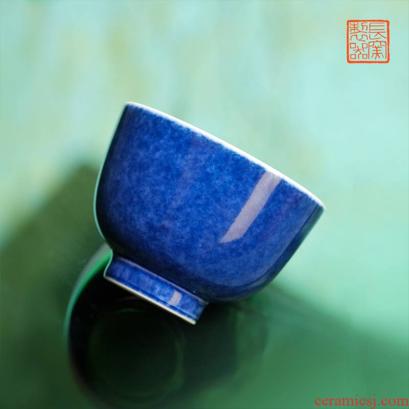 Offered home - cooked ju long up controller spilled maintain taste a cup of jingdezhen blue view of pure hand - made master cup of tea