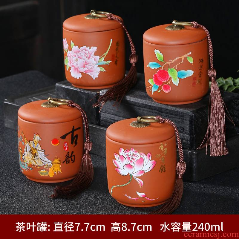 Elder brother up with ceramic tea pot size sealed as cans of household of Chinese style tea pu 'er tea storage tanks box POTS