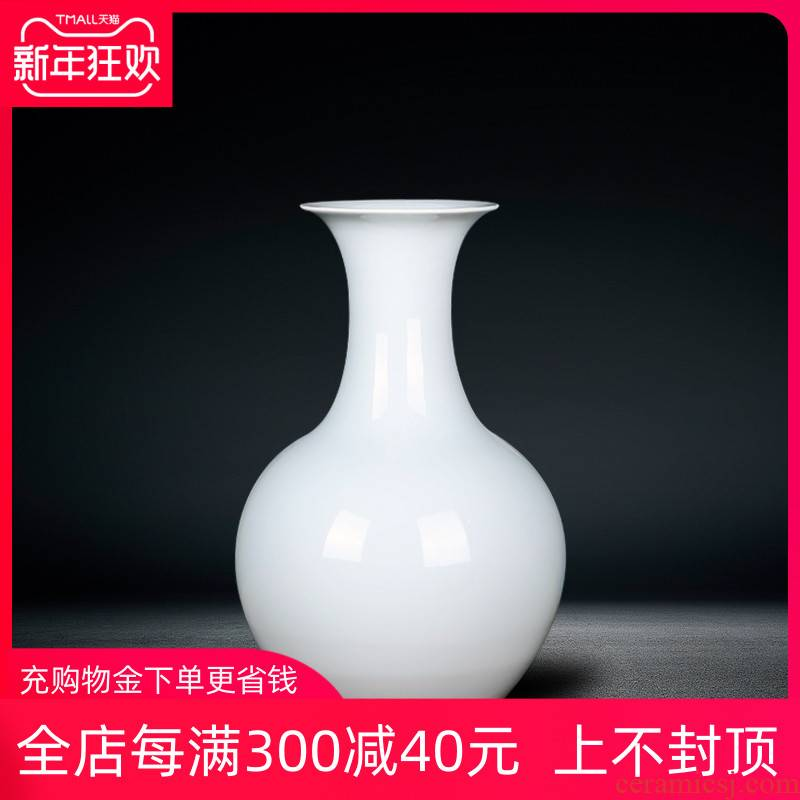 Jingdezhen ceramics European white vase is placed in the modern living room porch dry flower arranging hotel decoration