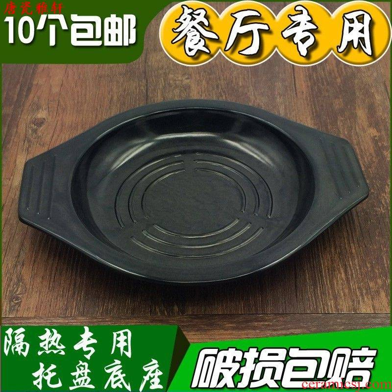 High temperature resistant ltd. casserole tray tray heat insulation ltd. mat iron base with thick sand pot stone bowl