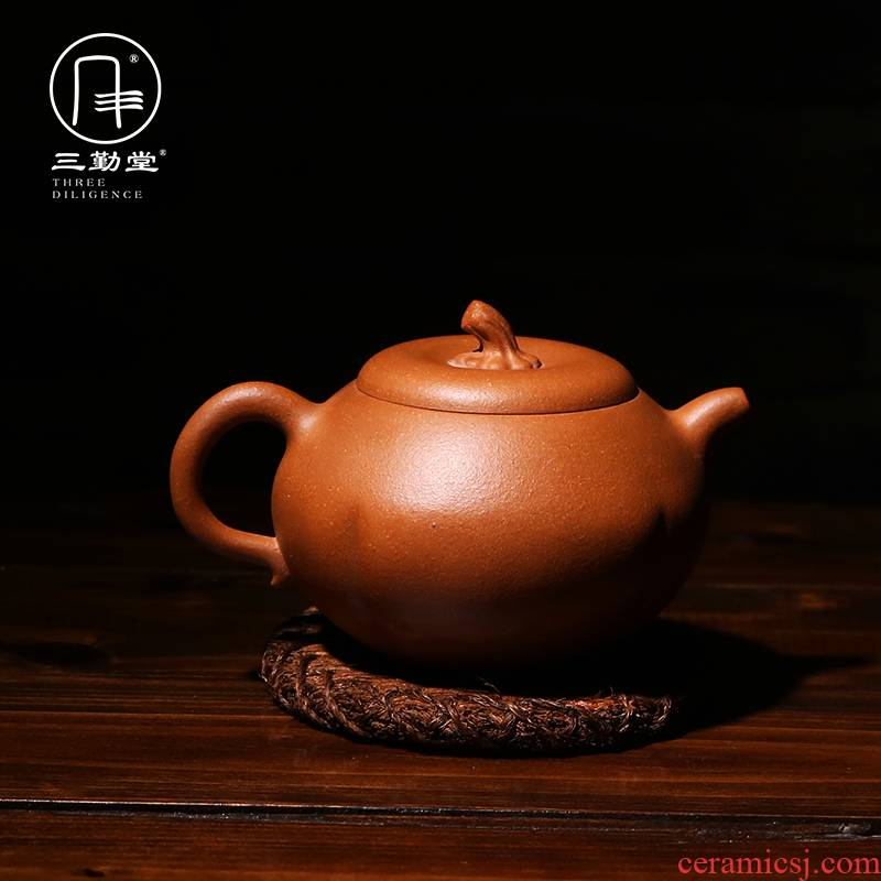 Three frequently hall are it teapot yixing masters all hand little teapot drop broken ore old mud mud boring pot