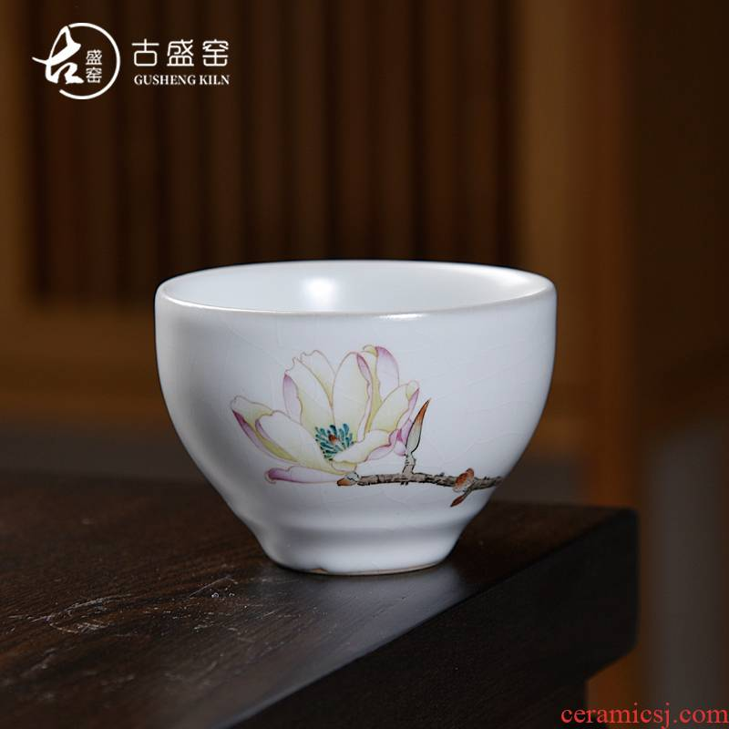 Ancient fill your up up the open piece of kung fu tea masters cup manually jingdezhen single cup tea hand - made ceramic sample tea cup