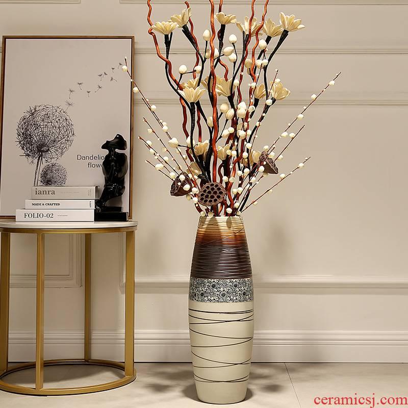European household furnishings jingdezhen porcelain vase decoration art dry flower vase landing large - sized ceramic furnishing articles