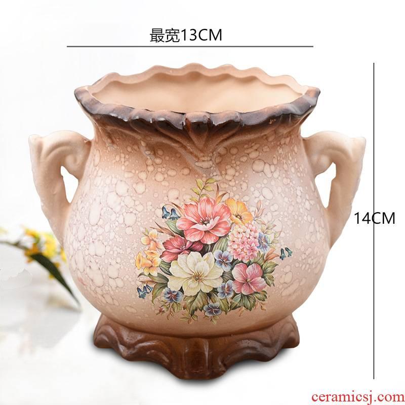 To embellish the European - style ceramics vase furnishing articles sitting room put dry flower art of jingdezhen table creative household decoration