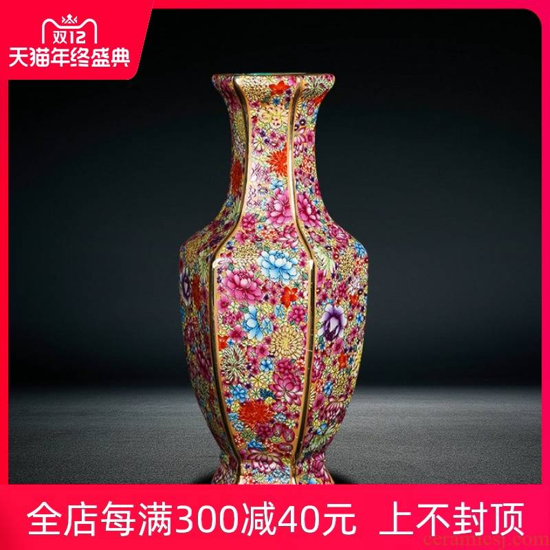 Chinese classical jingdezhen ceramics of large vase archaize qianlong home sitting room adornment is placed flowers