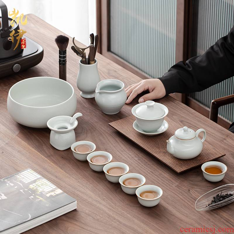 Holly your up kung fu tea sets teapot teacup only three tureen jingdezhen ceramic tea set of a complete set of the home