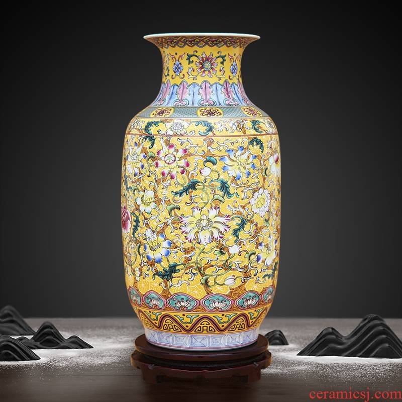 Archaize colored enamel flowers white gourd bottle to industry