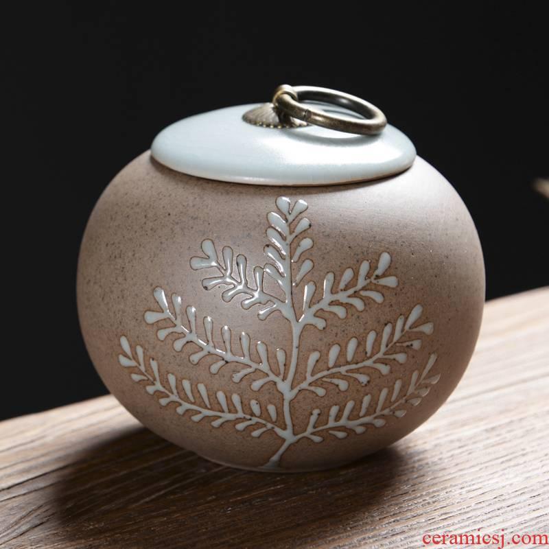 Ya xin purple pu 'er tea caddy fixings household deposit caddy fixings tea POTS awake seal storage tank receive ceramic pot
