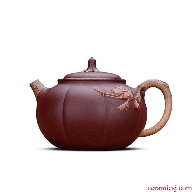 Shadow at yixing undressed ore old purple clay are it by collecting all hand kung fu teapot tea pumpkin pot