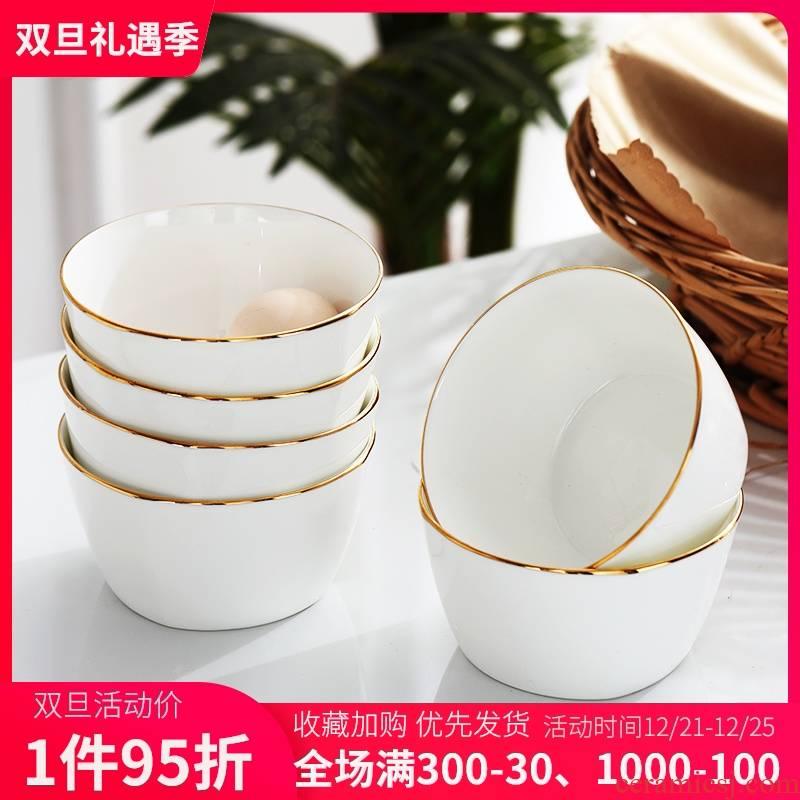 Jingdezhen ceramic bowl home eat bowl creative Japanese party bowl up phnom penh small bowl of soup bowl ipads porcelain rice bowls