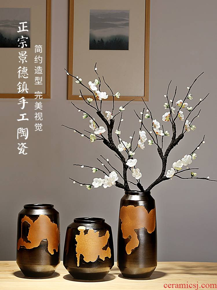 Jingdezhen ceramics vases, I and contracted the new Chinese style home furnishing articles adornment of the sitting room porch dry flower arranging flowers