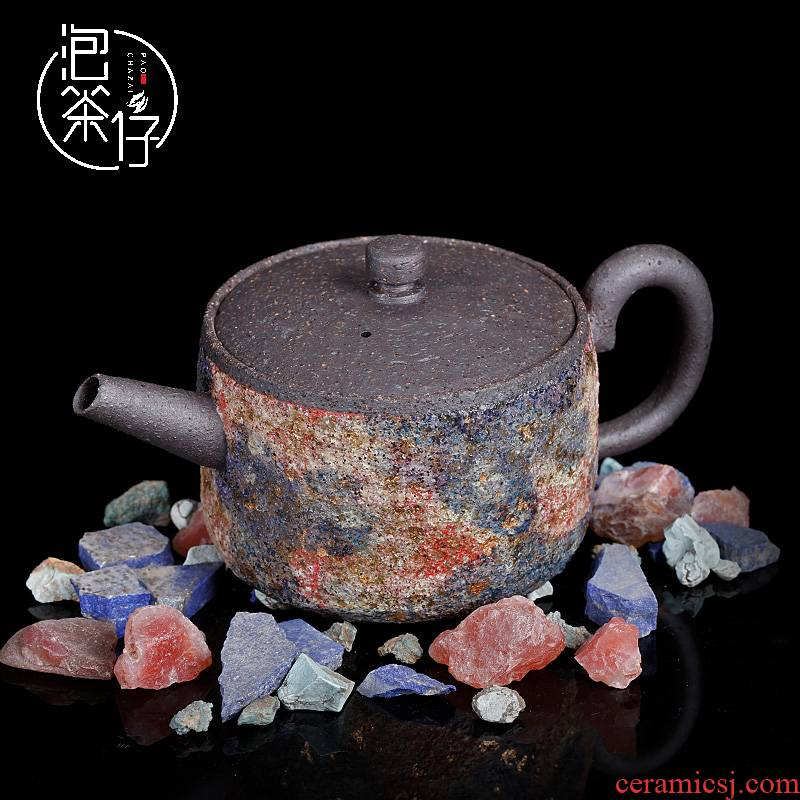Museum collection of hand made a particular coarse TaoYan the teapot famous colorful integrity pot of pure manual Japanese teapot