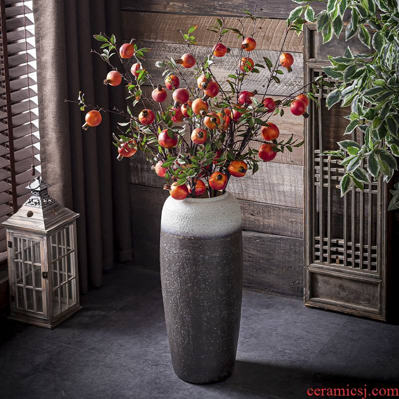 Northern wind restoring ancient ways of literature and art ceramic vase of large sitting room I and contracted creative dried flower adornment furnishing articles flower arrangement