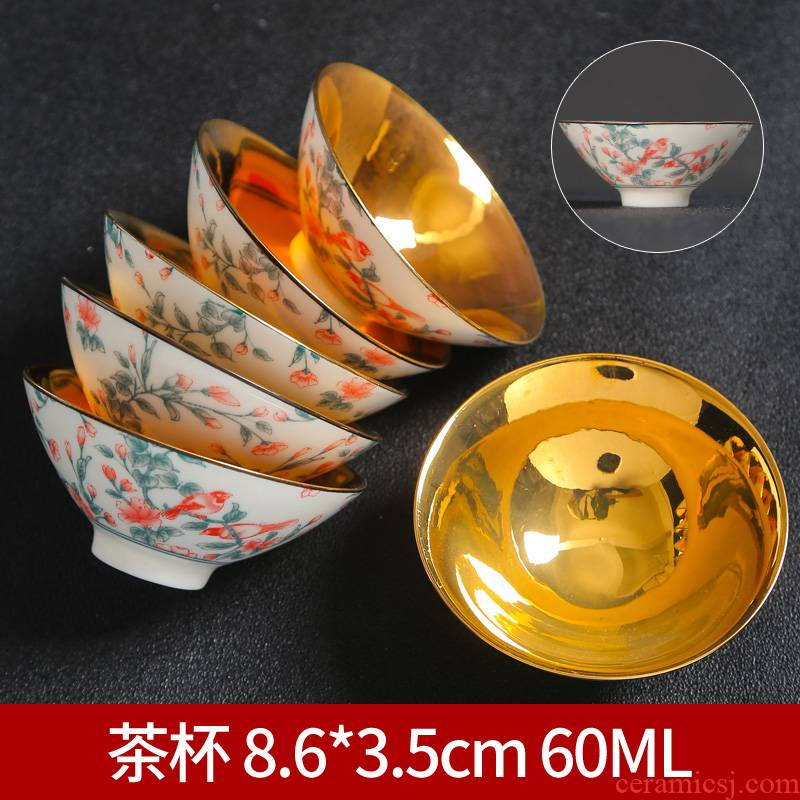 Dehua suet jade white porcelain hat cup ceramic masters cup personal single CPU kung fu tea sample tea cup a cup of tea