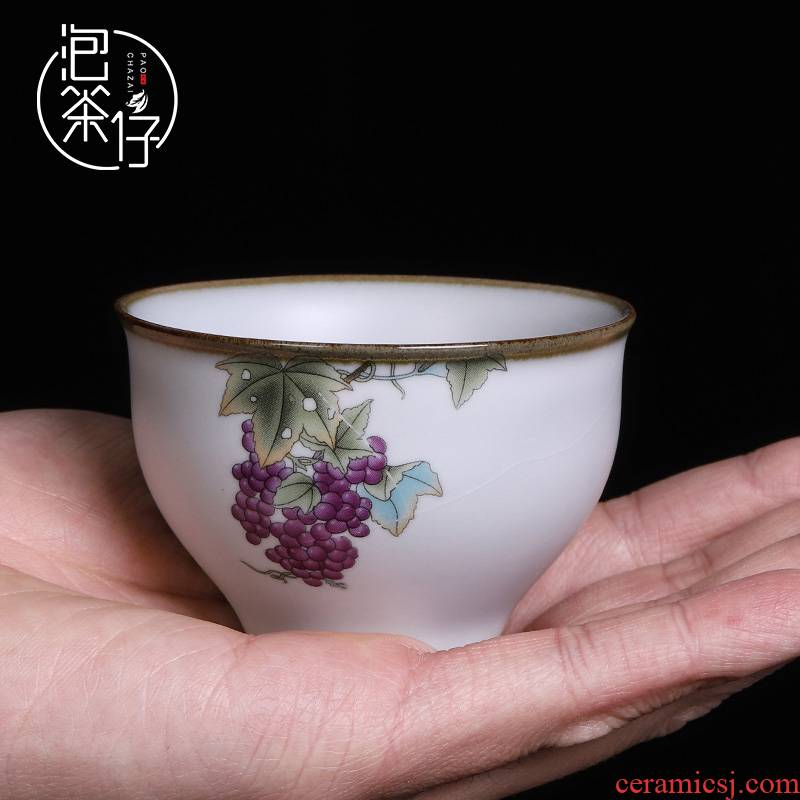 Your up hand - made cup ice to crack the individual CPU single cup pure manual open ceramic large pieces of can keep on white master CPU