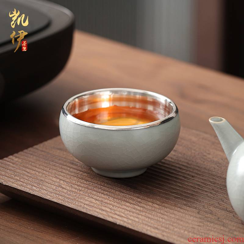 Your up 999 silvering on sample tea cup kunfu tea cups tea cup tea cup of jingdezhen ceramic silver cup