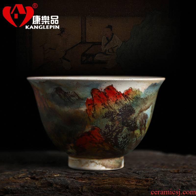 Recreational product water firewood TaoChun manual landscape sample tea cup capacity of 125 cc household kung fu tea cups