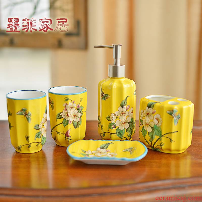 American ceramic sanitary ware, five sets of new Chinese style bathroom toiletries household adornment furnishing articles version into gifts