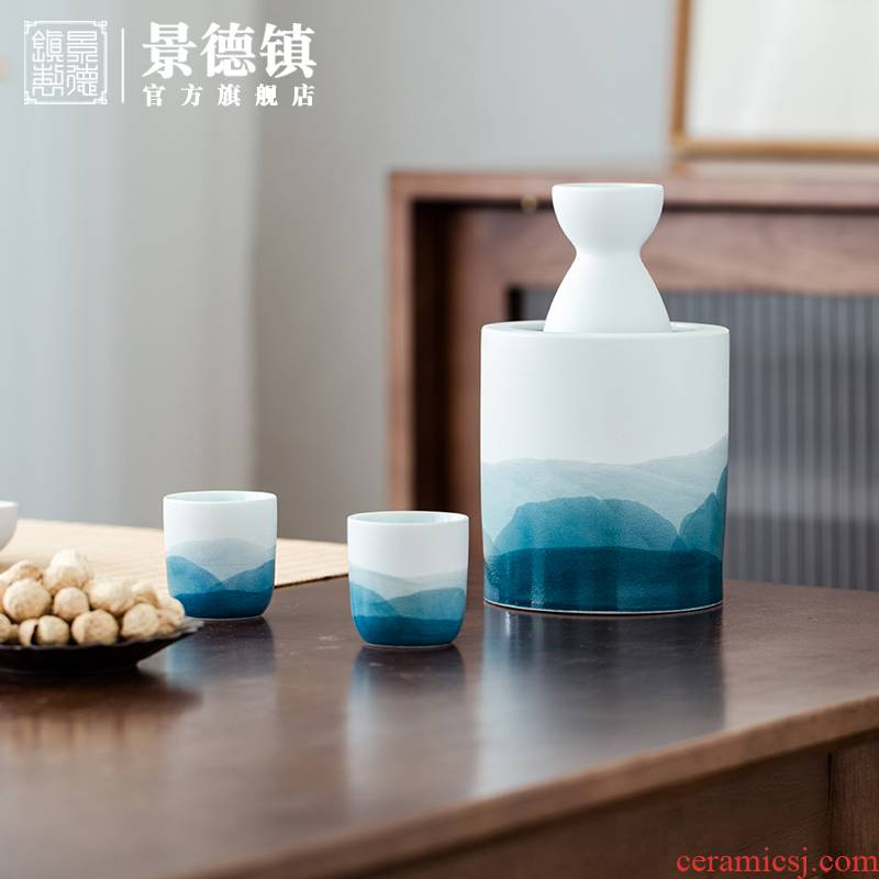 Jingdezhen flagship store checking Chinese wind use ltd. drinking Chinese ceramic tool suite