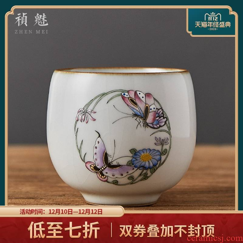 Shot incarnate your up on hand - made jingdezhen ceramic cups kung fu tea master sample tea cup cup personal single CPU