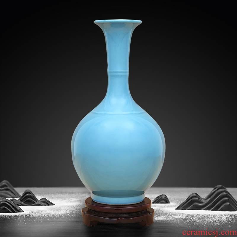 Jingdezhen ceramic vase is placed high temperature color glaze flower arrangement sitting room adornment hotel villa crafts