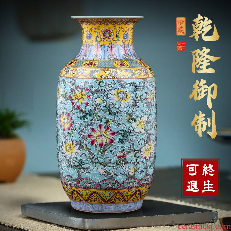 Jingdezhen ceramics vase Chinese flower arranging TV ark, archaize porcelain adornment bedroom living room office furnishing articles