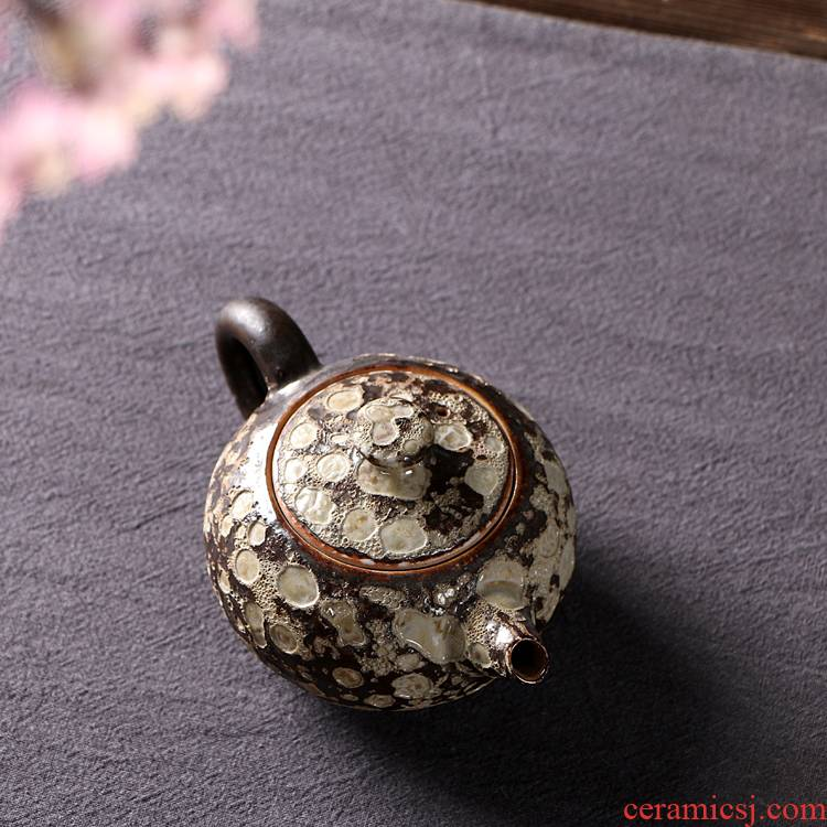 Ya xin company hall kung fu tea accessories rust glaze ceramic xi shi pot of manual pick flowers teapot tea, single pot