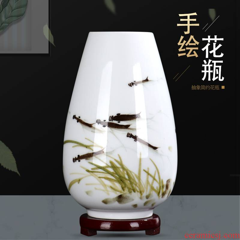 Hand - made jingdezhen ceramics vase furnishing articles sitting room dry flower arranging flowers to decorate the study TV cabinet size crafts