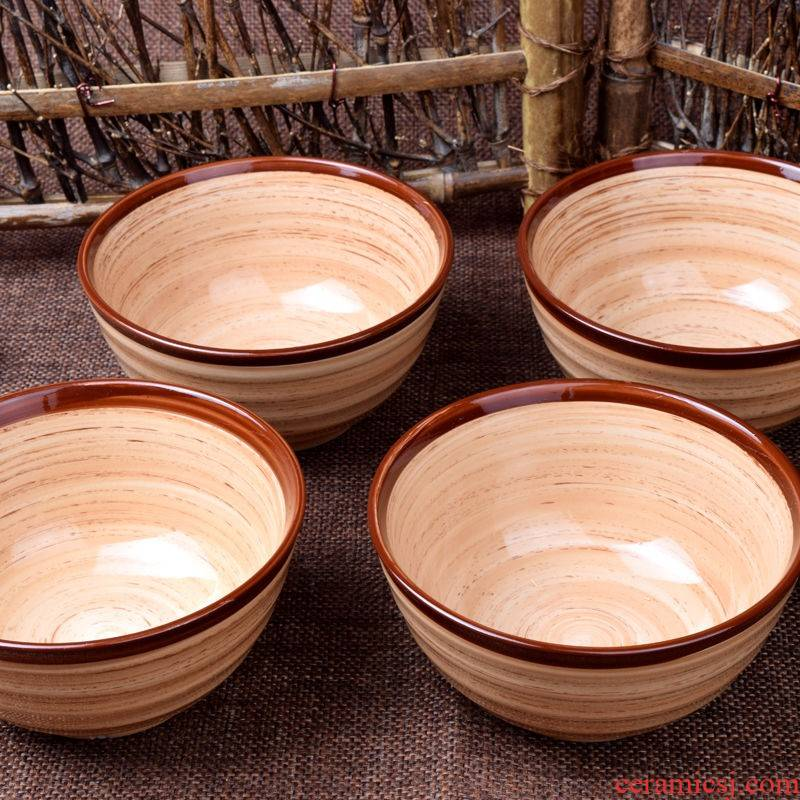 The creative fashion kitchen lovely Japanese household microwave ceramic bowl of rice bowl noodles in soup bowl tableware suit The dishes