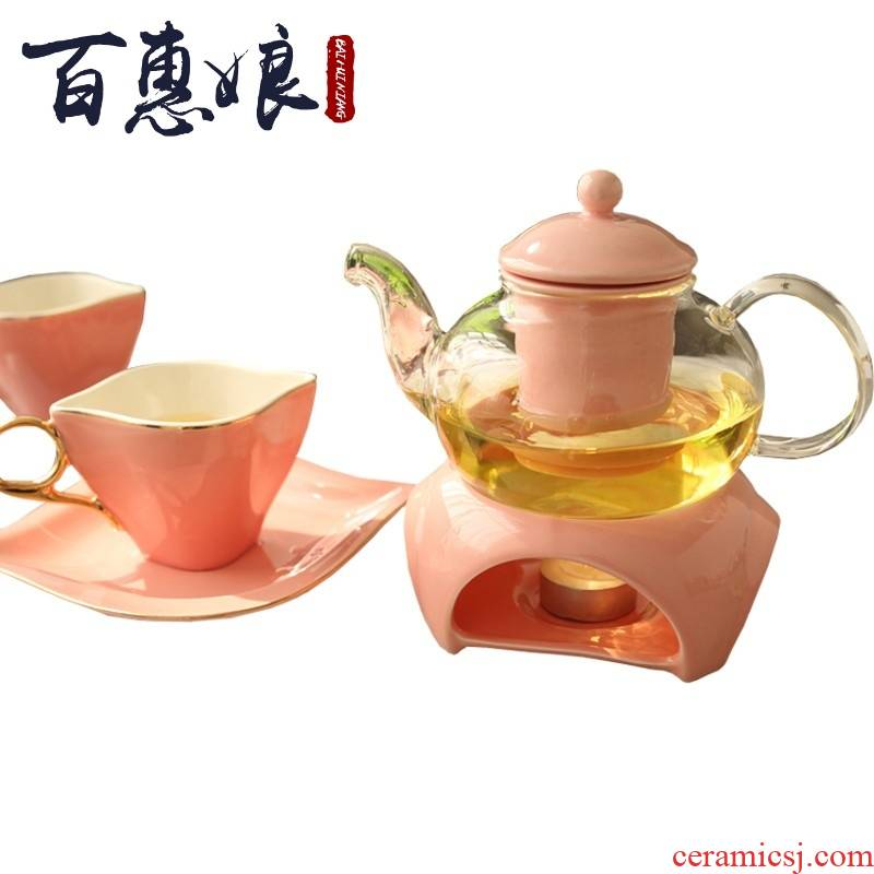 (niang English tea tea set household glass tea cup continental salon ceramic tea in the afternoon