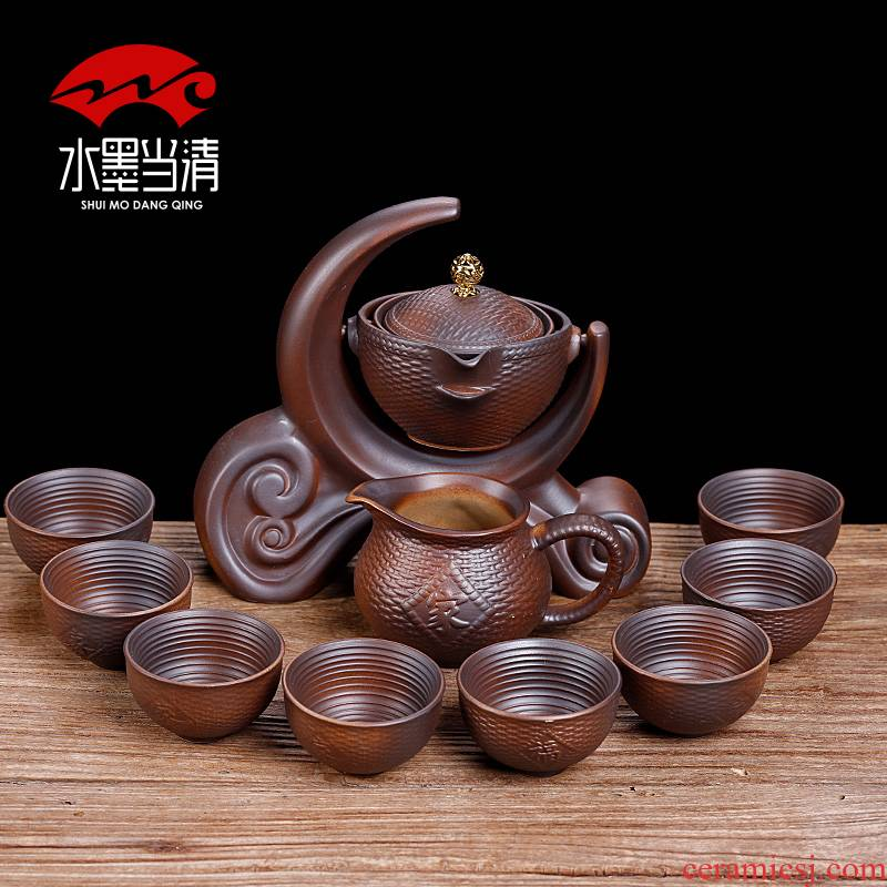 Household vintage kung fu tea set suits for Chinese ceramic tea to implement the teapot teacup lazy man from the water of a complete set of tea