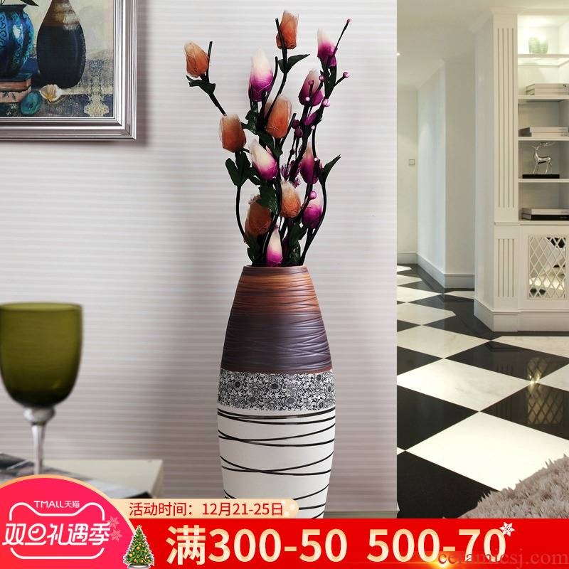 Jingdezhen ceramic creative I and contracted sitting room of large vase household soft adornment flower arranging, furnishing articles