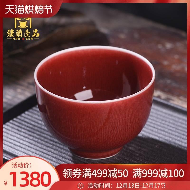 Jingdezhen ceramic all hand up - market metrix 'cup kung fu tea set large personal single cup tea cup color glaze cup