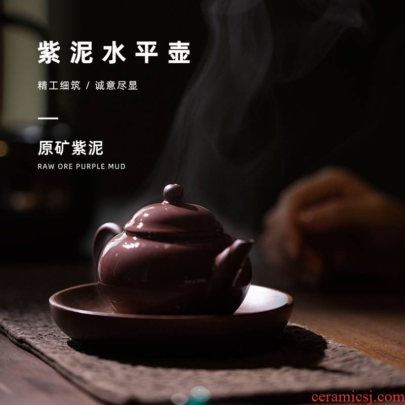 Mountain sound two optional level of purple clay pot of ore size yixing purple clay it little teapot