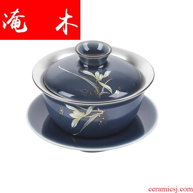 Submerged wood 999 sterling silver tureen ceramic kung fu tea tea cup manually coppering. As bladder three silver tureen household mercifully