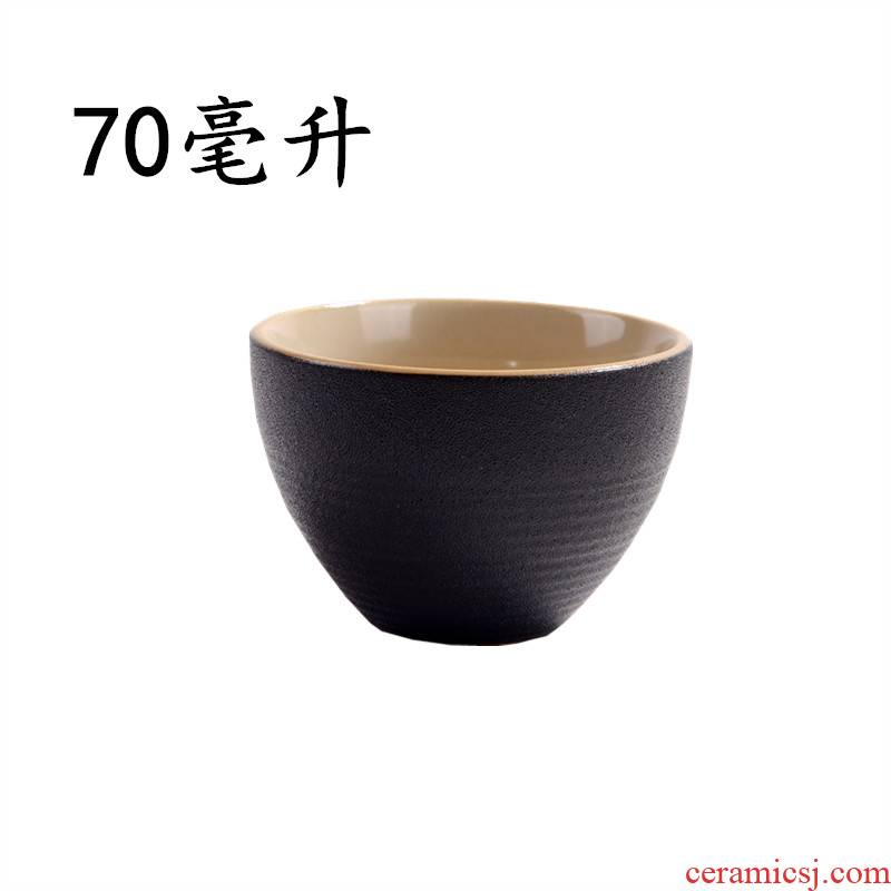 Qiao mu small round cup a ceramic cup two small single cup suit Japanese wine liquor cup. A small handleless wine cup blue and white Chinese wind