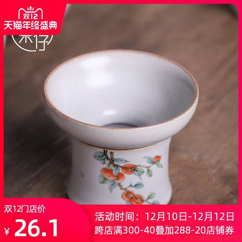 Chinese style your up ice cracked piece of) tea accessories tea filters every tea tea tea exchanger with the ceramics filter