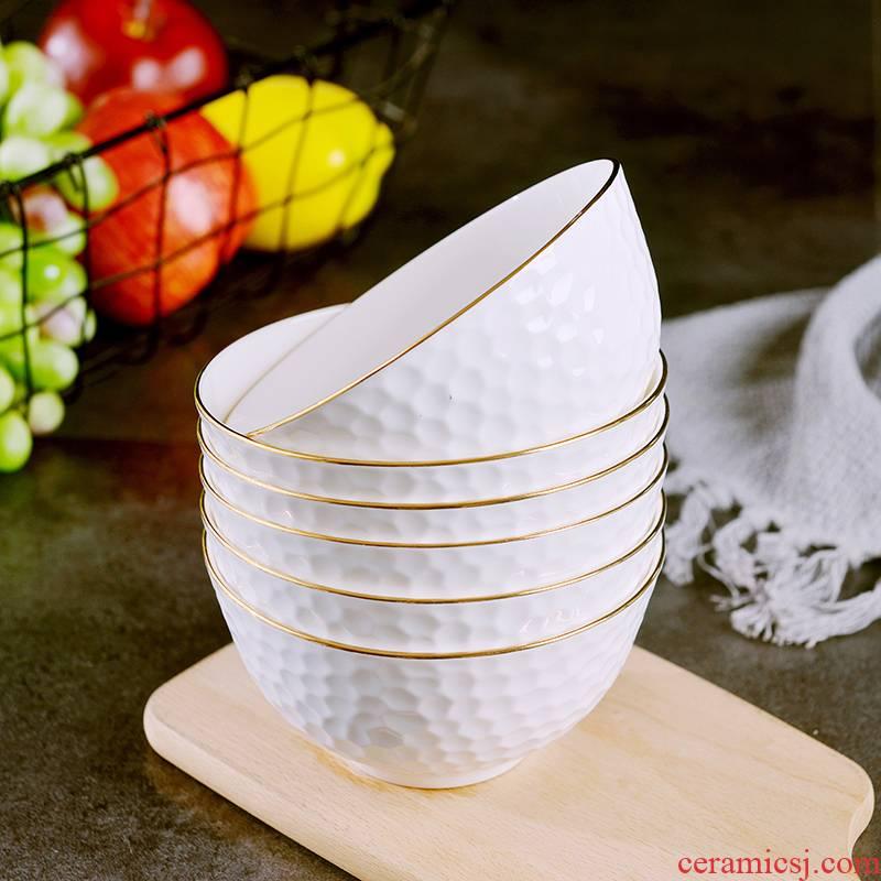 Home up phnom penh bowl suit European creative ipads porcelain rice bowls of jingdezhen relief grain ceramic large eat bread and butter