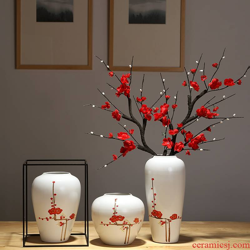 Jingdezhen ceramic vases, the sitting room porch flower arranging porcelain bottle I and contracted dry flower decoration of Chinese style household furnishing articles