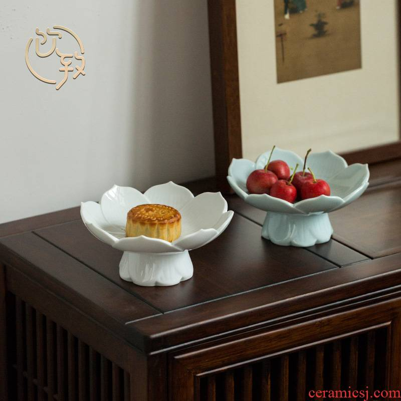 Ultimately responds to compote creative best fruit compote dish can drop, ceramic disc snack plate snacks tea tray for Buddha