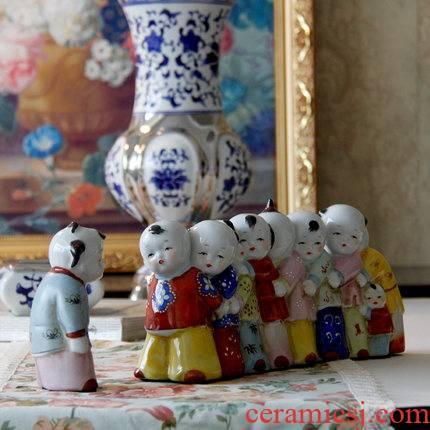 European rural chicken ceramic painting home furnishing articles decoration birthday gift