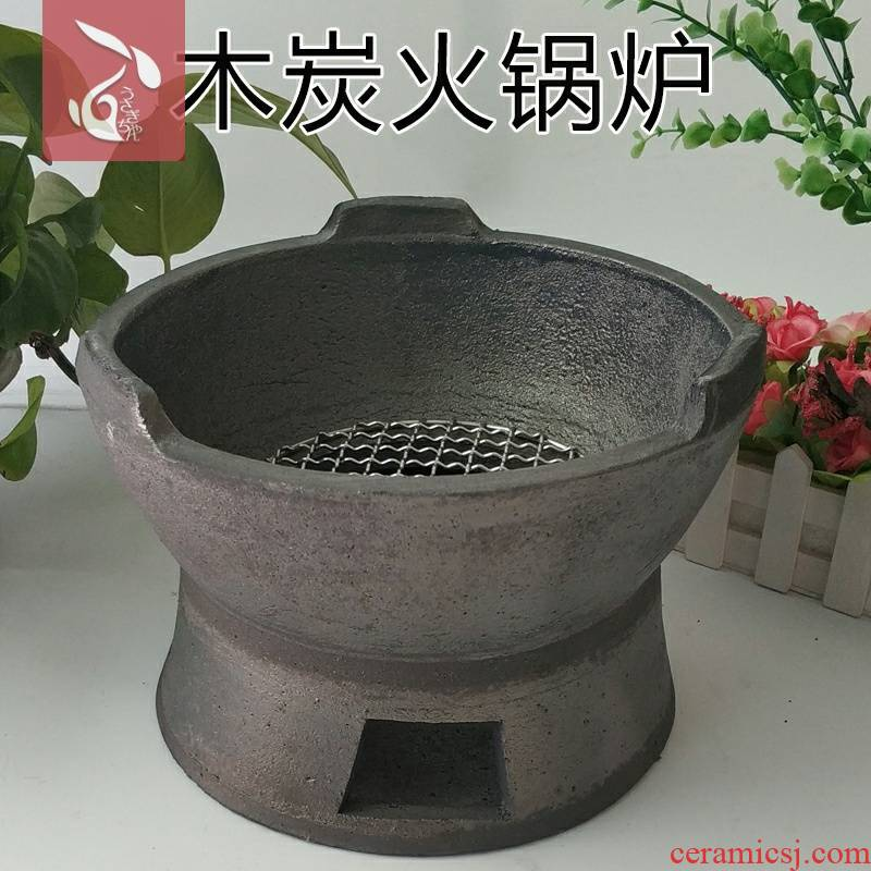Casserole carbon furnace charcoal stove Hong Kong style old ltd. hot pot barbecue charcoal stove furnace and furnace home dozen small clay