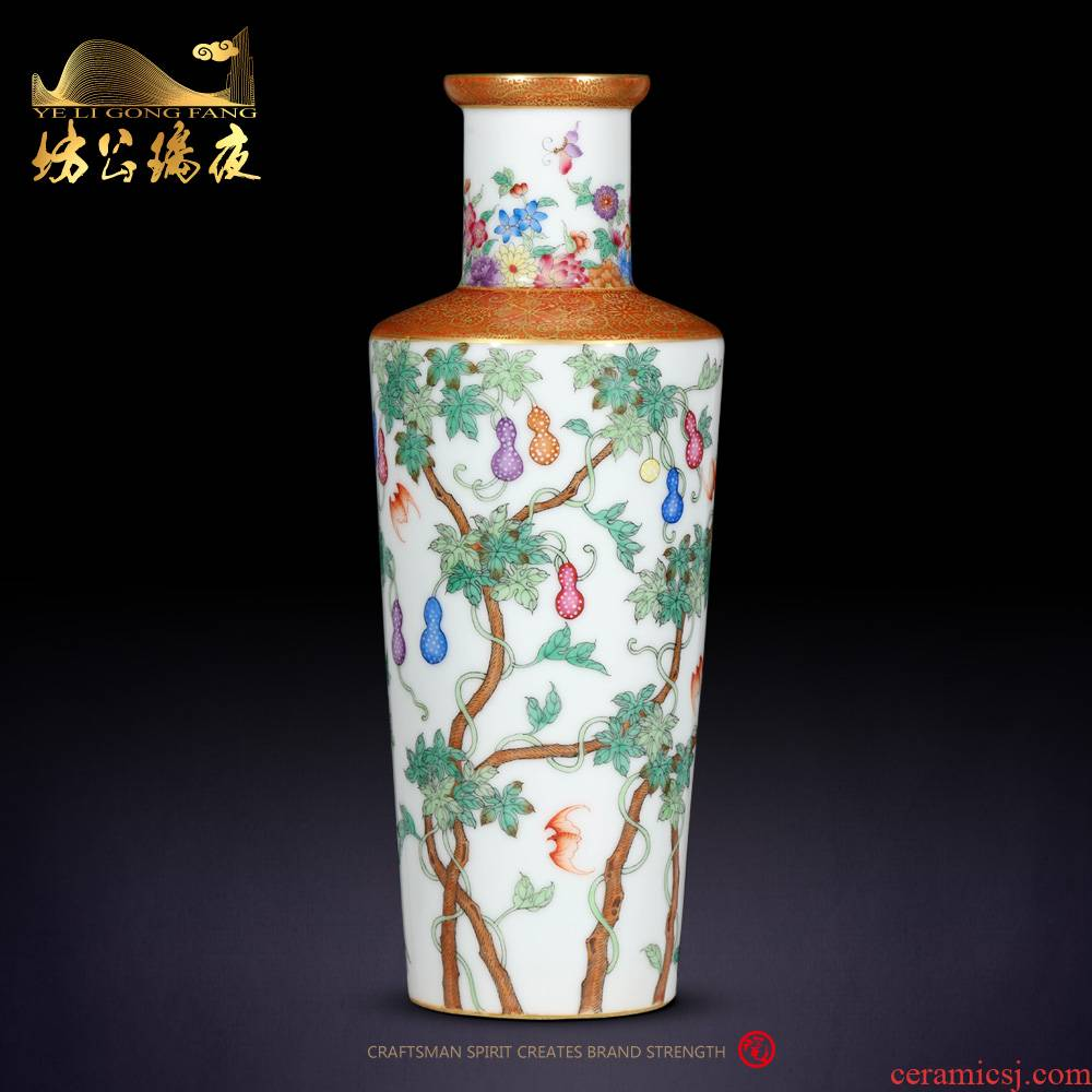 Archaize of jingdezhen ceramics colored enamel see many children were vases, Chinese style household decorations furnishing articles