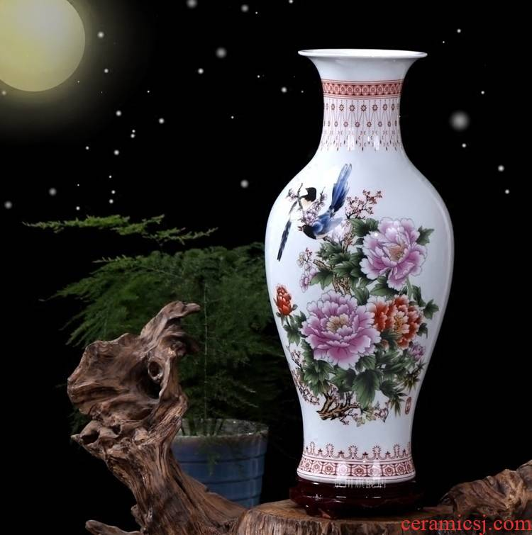 Jingdezhen ceramics size vase furnishing articles dried flower arranging flowers sitting room adornment mesa contracted household spending