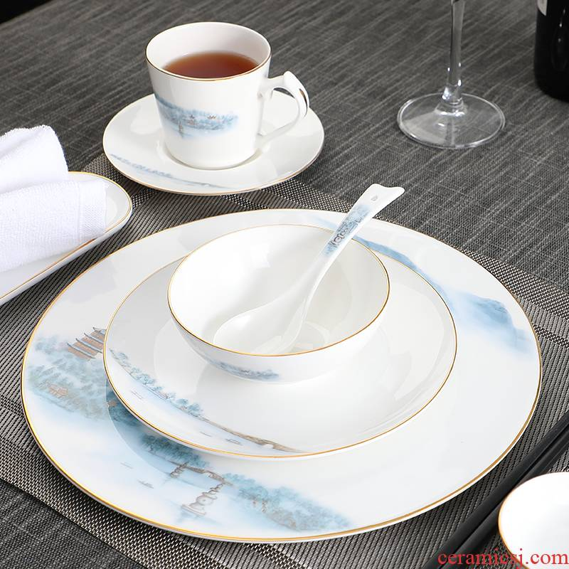 Hotel supplies Hotel ceramic new Chinese high - grade ipads China tableware to suit the club box unit ltd. company
