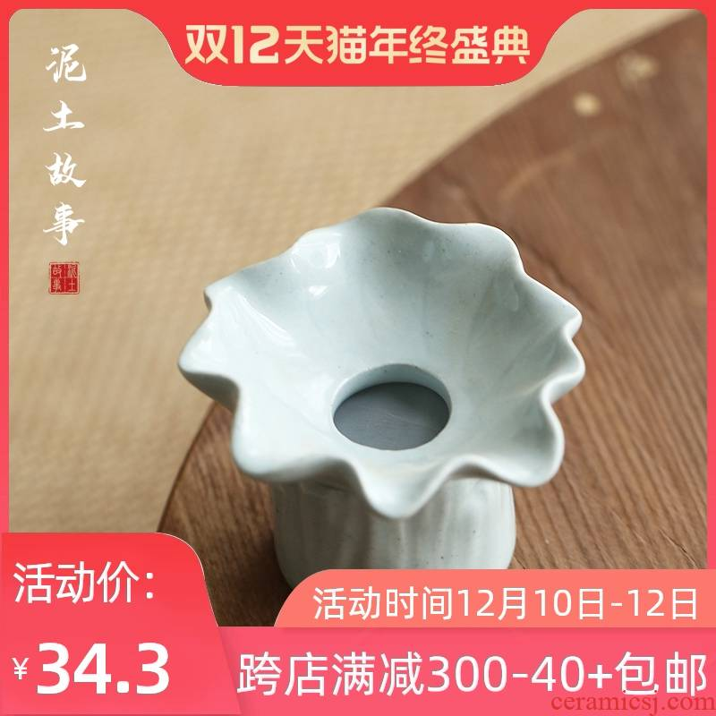 Jingdezhen manual coarse pottery, ceramic tea strainer every bracket tea strainer kung fu tea accessories