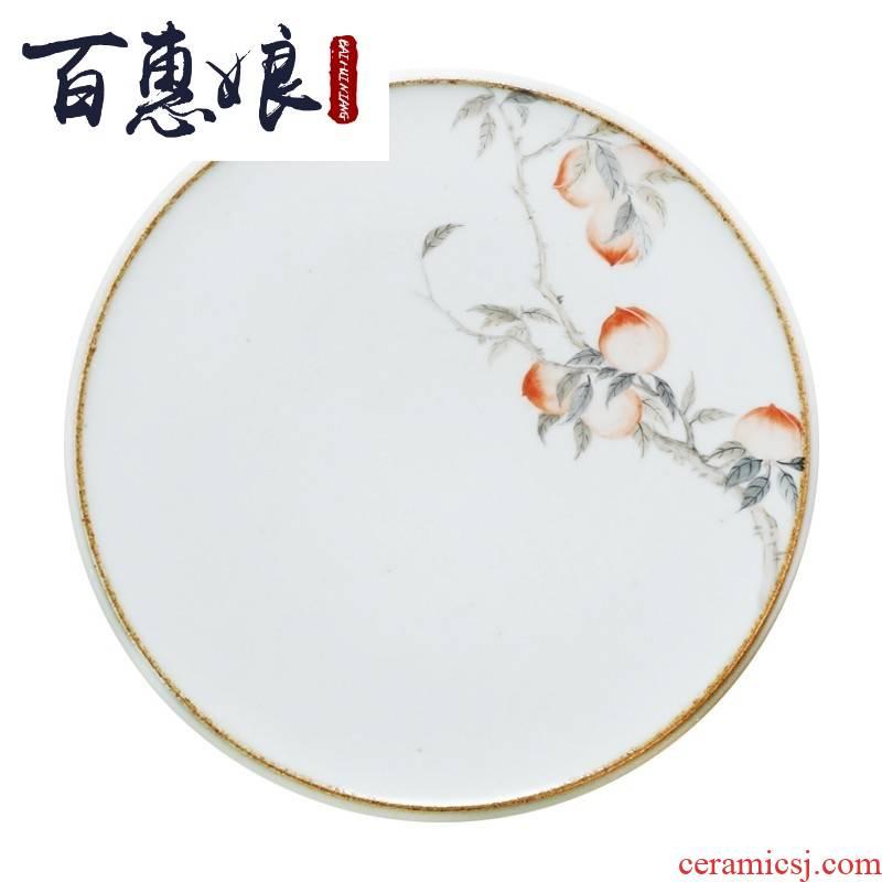 (niang mud - all hand hand - made ceramics jingdezhen coarse pottery slice of Japanese kung fu tea tea pot tray